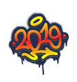 2019 tag graffiti style label lettering vector image vector image