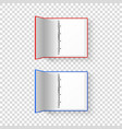 3d opened realistic red and blue office vector image vector image