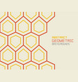 abstract geometric background with hexagons vector image vector image