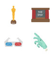 award oscar movie screen 3d glasses films and vector image vector image