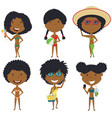 beach female characters vector image vector image