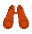 binoculars military equipment vector image