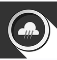 black icon with rainy and stylized shadow vector image vector image