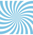 blue and white candy abstract spiral background vector image vector image