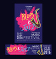 blues and jazz festival poster brochure and vector image
