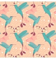 Bright pattern with colibri birds and butterflies vector image vector image