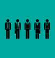 business people graphic set vector image vector image