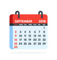 calendar for 2018 year full month of september vector image