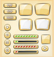 cartoon buttons icons and elements for game ui vector image