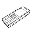 cartoon image of cellphone vector image vector image