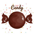 chocolate candy big and confetti design vector image