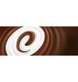 chocolate tongue splash with milk vector image vector image