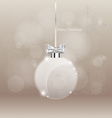 Christmas greeting card with Christmas ball vector image vector image