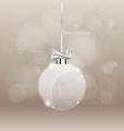 Christmas greeting card with Christmas ball vector image
