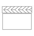 cinema clapper the black color icon vector image