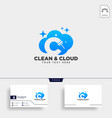 cleaning service letter c logo template icon vector image