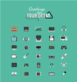 Color icons in minimal style vector image