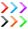 colored shiny 3d thin arrows glass web icons vector image vector image