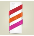 Colorful bookmarks for text background vector image vector image