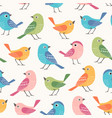 colorful little birds seamless pattern vector image vector image