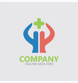 cross medical care logo vector image