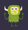 cute monster cartoon character 002 vector image vector image