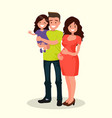 dad daughter and pregnant mother vector image vector image