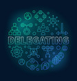 delegating round colored outline vector image vector image