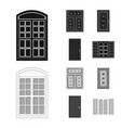 design of door and front logo collection vector image vector image