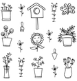 Doodle of flower with hand draw vector image vector image
