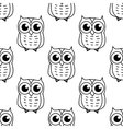 Doodle owl seamless pattern vector image vector image
