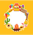 festa junina festival decorative elements vector image vector image