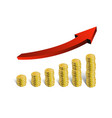 financial growth 3d red arrow stacked vector image