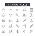 fishing tackle line icons signs set vector image vector image