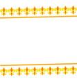 fleur de lis frame vector image vector image