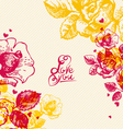 Floral background with hand lettering vector image vector image