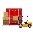 freight transportation concept 01 vector image vector image