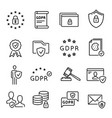 gdpr line icon general data protection regulation vector image
