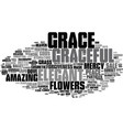 Grace word cloud concept vector image