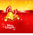 greeting card with Christmas bells vector image