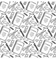 hand drawn seamless pattern with school vector image vector image