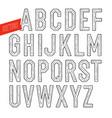 handmade retro font blak letters on white vector image vector image