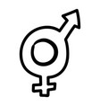 hermaphrodite gender symbol sexual orientation vector image vector image