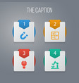 icon learning set of magnetic subtraction brain vector image