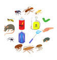 insect icons set cartoon style vector image vector image