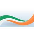 ireland waving national flag modern unusual shape vector image