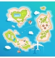 islands top aerial view - travel tourism vector image vector image