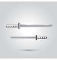 Japanese sword ninja weapon vector image vector image