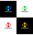letter h in circle logo icon flat design vector image vector image