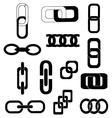 Link chains icons set vector image vector image